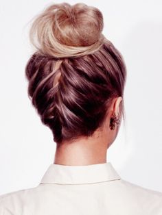 DIY french braid bun tutorial