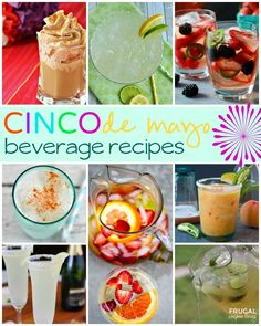 Homemade Cindo De Mayo Recipes and Ideas - Beverages, Salsas, Dips and Entrees on Frugal Coupon Living.