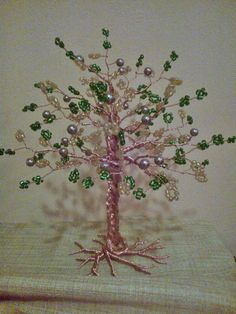 Wire and beads.