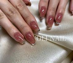 """🥀'𝐎𝐋𝐈 𝐍𝐀𝐈𝐋 𝐬𝐡𝐢𝐛𝐮𝐲𝐚 𝐚𝐢𝐦𝐢🥀 on Instagram: """"ぷるぷるベースのガラスフレンチかわいい🥺💕 最初すごく爪短かったけど、自爪でもここまで綺麗に伸ばせます🤍 . . . . . . . #ガラスフレンチ #ガラスフレンチネイル #フレンチ #フレンチネイル #olinail #オリネイル #nail #nails…"""""""