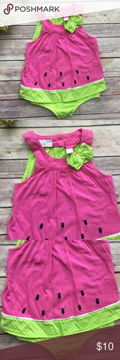 Watermelon Romper Adorable watermelon Romper, brand is First Impressions. Size 18 mo, VGUC. First Impressions One Pieces Bodysuits
