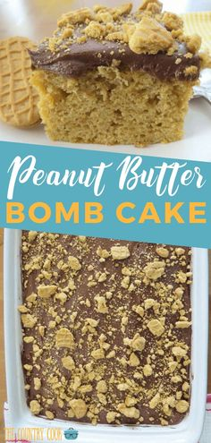 Frugal Food Items - How To Prepare Dinner And Luxuriate In Delightful Meals Without Having Shelling Out A Fortune This Peanut Butter Bomb Cake Is A Peanut Butter And Chocolate Lovers Dream And It All Starts With A Boxed Cake Mix So Good And So Moist No Bake Desserts, Just Desserts, Delicious Desserts, Yummy Food, Healthy Food, Healthy Cake, Cupcakes, Cupcake Cakes, Cookie Cakes