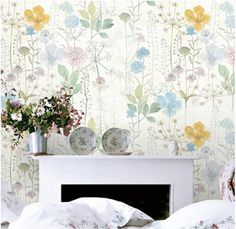 Write to us by click Request a custom order to get special offer. Order Process refer to the last picture. Customizable To Fit Your Walls size! Just Tell Us The Total Width & Height You Need. Let Us Arrange It For You! This Watercolor Flowers wallpaper is Specially Designed and Custom