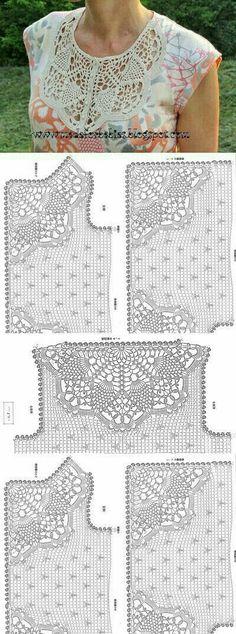 Fabulous Crochet a Little Black Crochet Dress Ideas. Georgeous Crochet a Little Black Crochet Dress Ideas. Débardeurs Au Crochet, Crochet Shirt, Crochet Jacket, Crochet Diagram, Crochet Cardigan, Filet Crochet, Irish Crochet, Crochet Stitches, Crochet Baby
