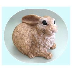 Easter Bunny Decor Easter Rabbit Decor Easter Bunny Rabbit Decor Brown... ($12) via Polyvore featuring home, home decor, holiday decorations, bunny figurines, easter rabbit figurines, brown home decor, bunny rabbit figurines and easter figurines