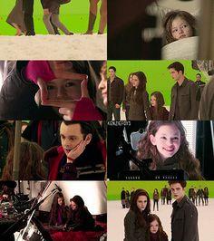 """"""" Mackenzie Foy """"Renesmee Cullen"""" behind the scenes of Breaking Dawn Part 2 """" Twilight Breaking Dawn, Breaking Dawn Part 2, Twilight New Moon, Twilight Saga, Twilight Poster, Mackenzie Foy, Love Movie, Vampire Diaries, Good Movies"""