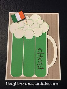 St. Patrick's Day Green Beer Mug card