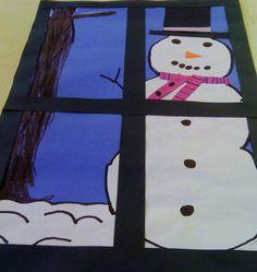 Window view snowman