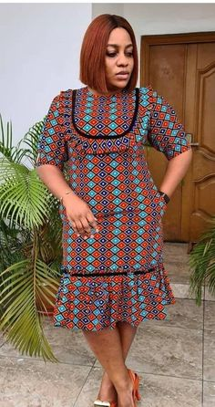 African Dresses For Kids, Latest African Fashion Dresses, African Dresses For Women, African Print Fashion, Africa Fashion, African Attire, Women's Fashion Dresses, African Fashion Traditional, Shweshwe Dresses