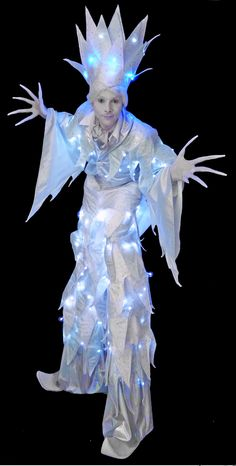 Stilt walkers available to perform as various winter & Christmas themed characters in LED costumes on stilts at your private or corporate event Christmas Party Themes, Xmas Party, Winter Wonderland Costume, Fairy Makeup, Mermaid Makeup, Makeup Art, Winder Wonderland, Fantasy Hair, Fantasy Makeup