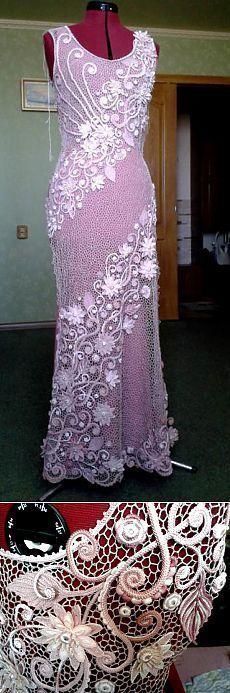 "Будет платье ""Энигма"" у Марины Шеиной (Ситникова) [ ""Beautiful Irish Crochet (Russian Free Form) dress"", ""Lovely crocheted lace, create appliques for overlays of gowns and dresses."", ""Will dress & quot; Enigma & quot; Marina Shein (Sitnikov)"" ] # # #Crocheted #Lace, # #Freeform #Crochet, # #Filet #Crochet, # #Irish #Crochet, # #Crochet #Dresses, # #Irish #Lace, # #And #Dresses, # #Overlays, # #Gowns"