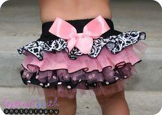 Ruffle bottom diaper cover