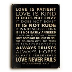 Found it at Wayfair - Love Is Patient Textual Art
