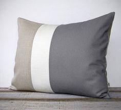 16x20 Color Block Pillow in Gray Cream and by JillianReneDecor, $75.00