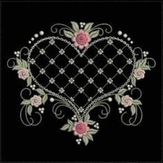 Vintage Embroidery Patterns A romantic set which will pull at your heart strings with vintage floral accents. - A romantic set which will pull at your heart strings with vintage floral accents. Hungarian Embroidery, Embroidery Sampler, Embroidery Transfers, Learn Embroidery, Machine Embroidery Patterns, Vintage Embroidery, Ribbon Embroidery, Embroidery Ideas, Applique Embroidery Designs