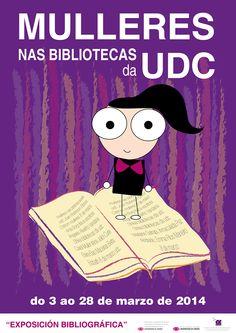 Cartel da exposición Mulleres nas Bibliotecas da UDC