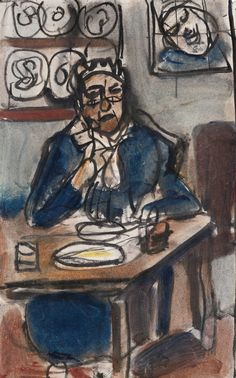 View La Gardienne - By Georges Rouault; India ink, gouache and watercolor on paper; Access more artwork lots and estimated & realized auction prices on MutualArt. Max Beckmann, Rembrandt, Chaim Soutine, Portrait Art, Portraits, Watercolor And Ink, Watercolor Painting, Magazine Art, Famous Artists