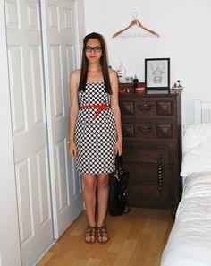 j. crew ella dress in pop art polka dot