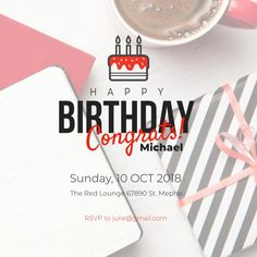 Landing page Unicorn Party Invites, Party Invitations, Free Web Design, Ipad Tablet, Save Yourself, Rsvp, Landing, Happy Birthday, Clip Art