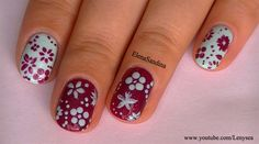 Spring Flowers by Lenysea - Nail Art Gallery nailartgallery.nailsmag.com by Nails Magazine www.nailsmag.com #nailart