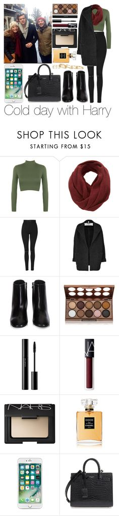 """""""Cold day with Harry"""" by sassy-queen01 ❤ liked on Polyvore featuring WearAll, SELECTED, Topshop, Burberry, Balenciaga, NYX, shu uemura, NARS Cosmetics, Chanel and Yves Saint Laurent"""