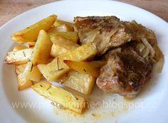 Vepřová krkovička na cibuli v pomalém hrnci Pot Roast, Crockpot, Slow Cooker, Pork, Beef, Chicken, Ethnic Recipes, Carne Asada, Kale Stir Fry
