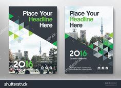 Green Color Scheme with City Background Business Book Cover Design Template in A4. Can be adapt to Brochure, Annual Report, Magazine,Poster, Corporate Presentation, Portfolio, Flyer, Banner, Website.