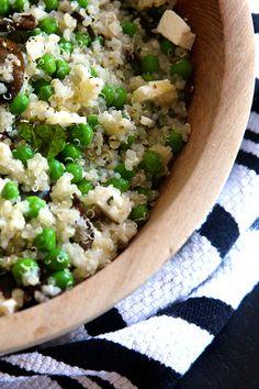 Quinoa Salad with Peas, Shiitake Mushrooms and Feta Recipe