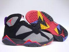 Air Jordan 7 Retro shoes Gray Black Red Men