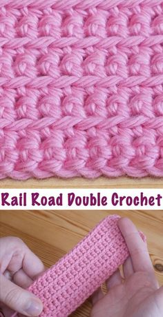 Diy Crafts-techniques,CrochetTechniques-How To Crochet The Rail Road Stitch crochet techniques - Crochet Techniques crochet techniques CrochetTech Stitch Crochet, Crochet Diy, Crochet Basics, Learn To Crochet, Crochet Crafts, Crochet Hooks, Crochet Stitch Tutorial, Doilies Crochet, Diy Crafts