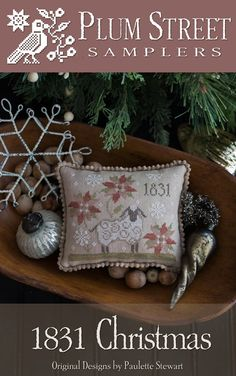 "PLUM STREET SAMPLERS ""1831 Christmas""   Counted Cross Stitch Pattern, Paulette Stewart   ***Releasing Week of November 14*** by NeedleCaseGoodies on Etsy"