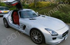 Mercedes SLS fully wrapped in a matt silver vinyl car wrap by Totally Dynamic Leeds