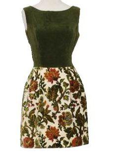 1960's Womens Mod Mini Dress - <3 any apparel resembling grandma's carpet