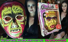 Grab one, grab em all! These vactastic plastic official ghoulsville masks are a must have for any monster lovers wall!