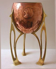 WMF Copper and Brass Planter, Germany C.1900.   (c. 1900 Germany)