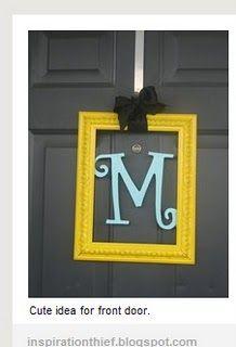 front door monogram in pic frame