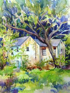Original art for sale at UGallery.com | Hidden Villa by Catherine McCargar | watercolor painting