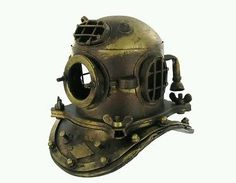 Deep sea #diver metal mini #helmet statue #nautical man cave sail boat antique lo,  View more on the LINK: http://www.zeppy.io/product/gb/2/171959878656/