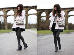 Sheinside Coat, Moschino Bag, Topshop Skirt, Kurt Geiger Wedges | Rose (by Anni ***) | LOOKBOOK.nu