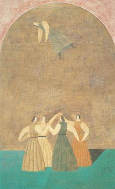 有元利夫 ロンド Japanese Art Modern, Japanese Artists, Art And Illustration, Illustrations, High Art, Japan Art, Retro Futurism, Art Sketchbook, Unique Art