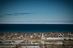 View of Toronto skyline just outside Grimsby, Ontario where I lived for a few years; I have such fond memories of this lovely town on Lake Ontario