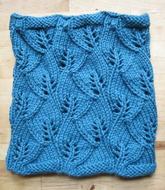 Ravelry: Growing Leaves Cowl pattern by Meghan Free  This is ranked as average difficulty. I just don't see it.