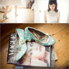 Vintage shoes and magazines