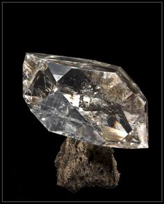 """https://www.bkgjewelry.com/ruby-rings/273-18k-yellow-gold-ruby-solitaire-ring.html Quartz """"Herkimer Diamond"""" / Herkimer Co., New York / From a 19th century European collection"""