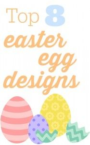 Top 8 Easter egg designs and DIY projects for you to do with your family this year.