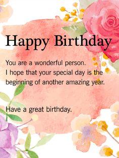 Have a Great Birthday - Birthday Wish Card