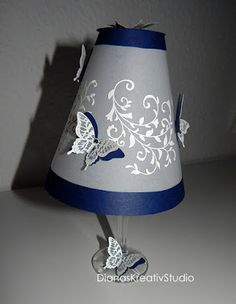 stampin up Glas Vellum Licht Light Schmetterling