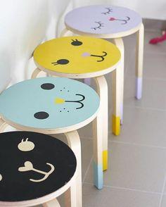 Funny stools for children  | Забавные табуретки для детей