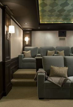 Dream Home Media Room By CMR Interiors Design Consultations Inc