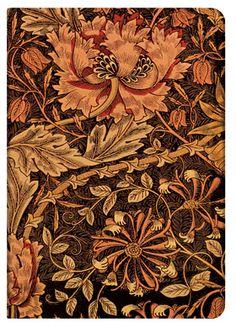 """Paperblanks: """"Caprifoglio"""" (William Morris) - Diario Medio, Pagine a righe"""